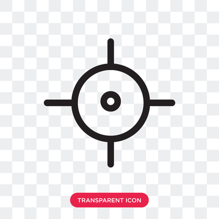 Target vector icon isolated on transparent background, Target logo concept Vectores
