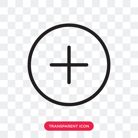 Plus vector icon isolated on transparent background, Plus logo concept