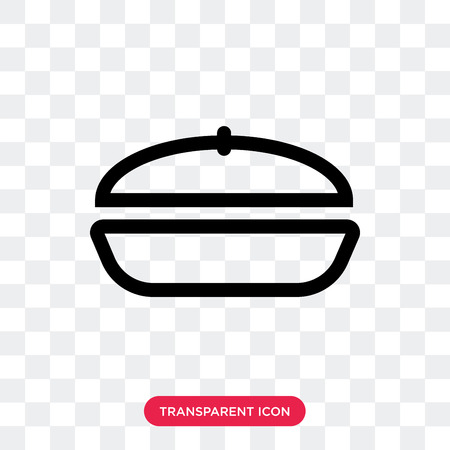 Frying pan vector icon isolated on transparent background, Frying pan logo concept Illustration