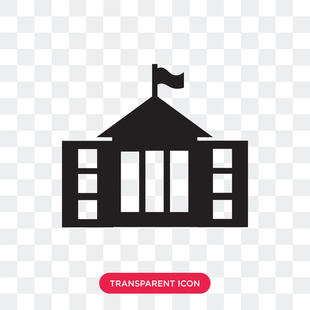 City Hall vector icon isolated on transparent background, City Hall logo concept Stock Illustratie