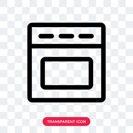 Oven vector icon isolated on transparent background, Oven logo concept