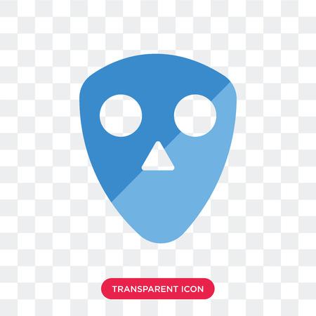 Human Skull vector icon isolated on transparent background, Human Skull logo concept Ilustração