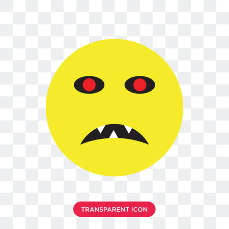 Zombie vector icon isolated on transparent background, Zombie logo concept