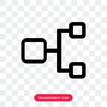 Hierarchical structure vector icon isolated on transparent background, Hierarchical structure logo concept Stock Illustratie