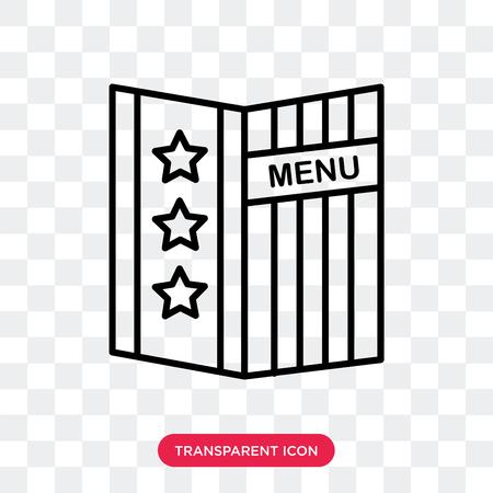 Icône de vecteur de menu isolé sur fond transparent, concept logo Menu