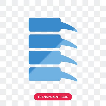 Spine Bone vector icon isolated on transparent background, Spine Bone logo concept Illustration