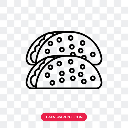 Taco vector icon isolated on transparent background, Taco logo concept