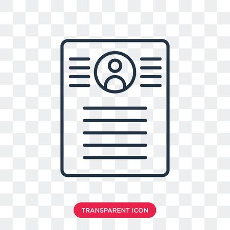 Icône de vecteur de résumé isolé sur fond transparent, concept logo résumé
