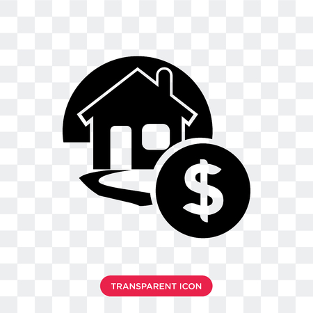 Mortgage vector icon isolated on transparent background, Mortgage logo concept