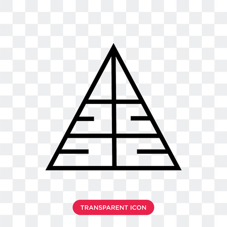 Pyramid vector icon isolated on transparent background, Pyramid logo concept Ilustração