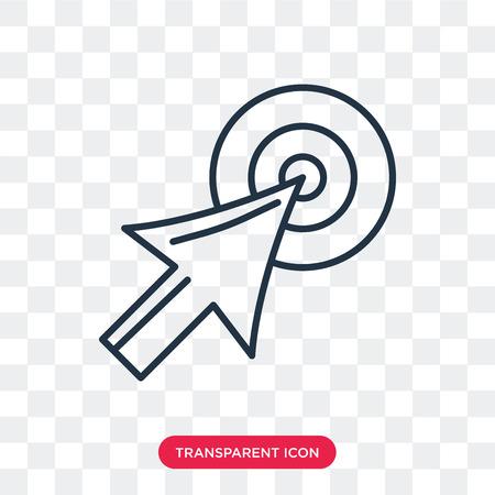 Sélectionnez l'icône de vecteur isolé sur fond transparent, sélectionnez le concept de logo