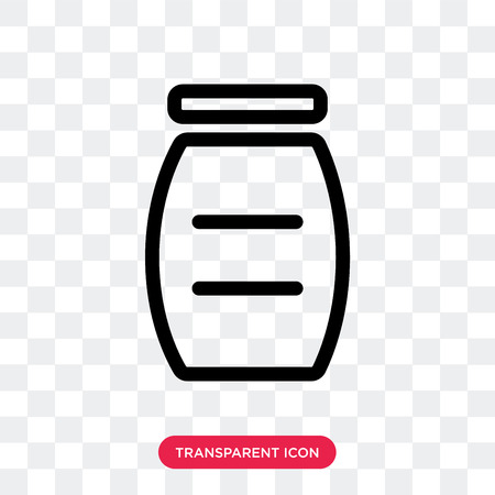 Jar vector icon isolated on transparent background, Jar logo concept