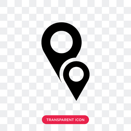 Map localization vector icon isolated on transparent background, Map localization logo concept