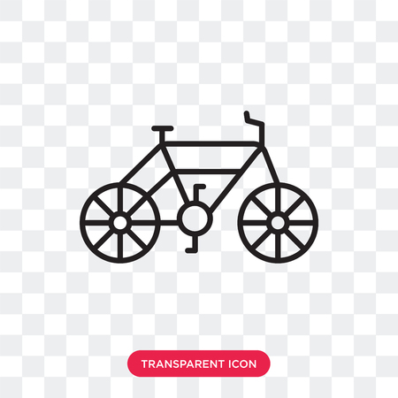 Bike vector icon isolated on transparent background, Bike logo concept