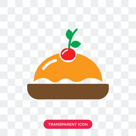 Pancakes vector icon isolated on transparent background, Pancakes logo concept