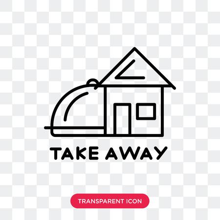 Take away icona vettore isolato su sfondo trasparente, Take away logo concept