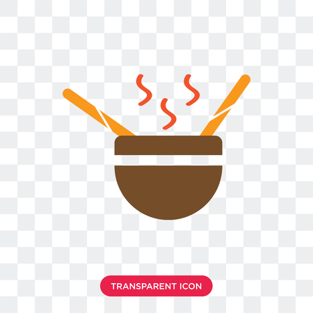 Soup vector icon isolated on transparent background, Soup logo concept