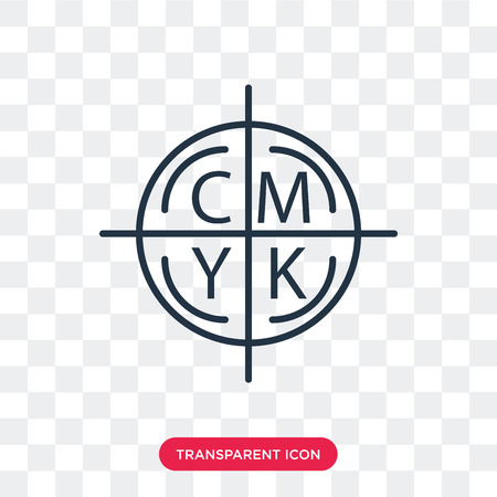 Cmyk vector icon isolated on transparent background, Cmyk logo concept