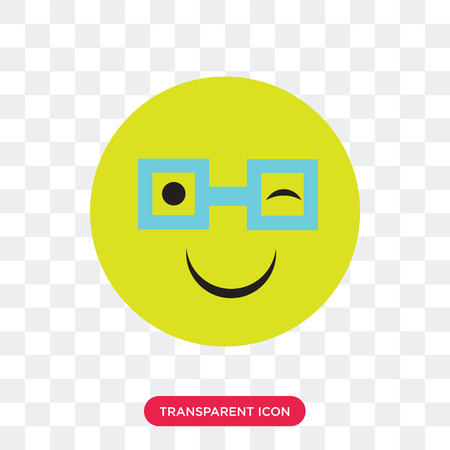 Nerd vector icon isolated on transparent background, Nerd logo concept