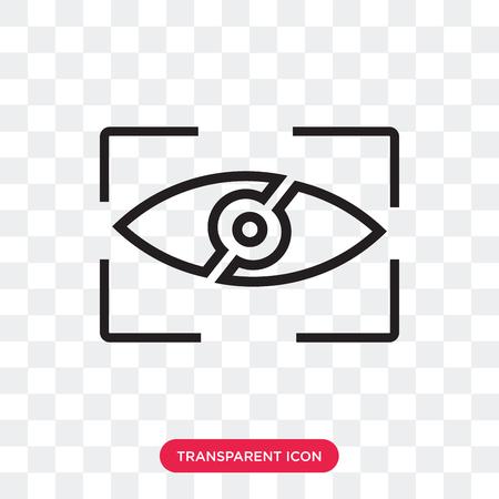 Icono de vector de visualización aislado sobre fondo transparente, concepto de logo de visualización Logos