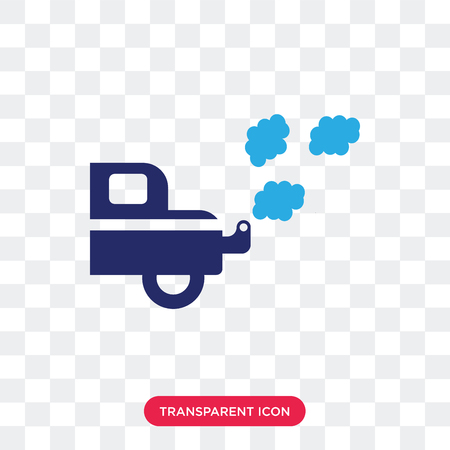 Exhaust vector icon isolated on transparent background, Exhaust logo concept