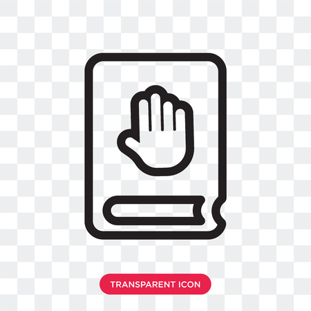 Oath vector icon isolated on transparent background, Oath logo concept