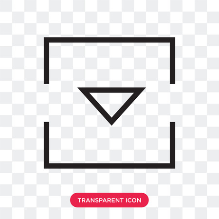 Down arrow vector icon isolated on transparent background, Down arrow logo concept