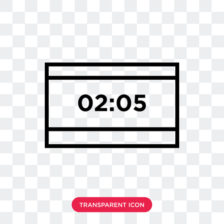 Score vector icon isolated on transparent background, Score logo concept Ilustração