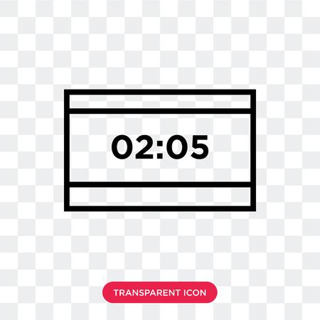 Score vector icon isolated on transparent background, Score logo concept Illustration