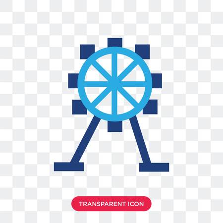 Ferris wheel vector icon isolated on transparent background, Ferris wheel logo concept