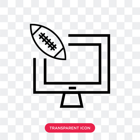 American football annotation vector icon isolated on transparent background, American football annotation logo concept