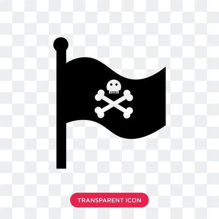Flag vector icon isolated on transparent background, Flag logo concept 矢量图像