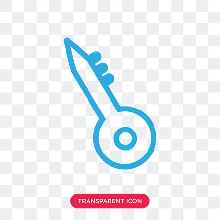 Key vector icon isolated on transparent background, Key logo concept Illustration