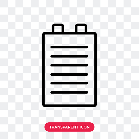 Clipboard vector icon isolated on transparent background, Clipboard logo concept 向量圖像