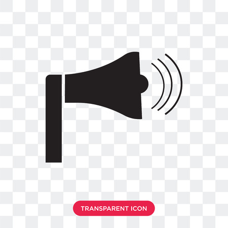 Speaker vector icon isolated on transparent background, Speaker logo concept