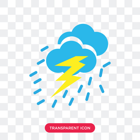 Storm Cloud vector icon isolated on transparent background, Storm Cloud logo concept