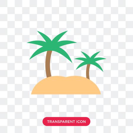 Icône de vecteur d'île isolé sur fond transparent, concept logo île Logo