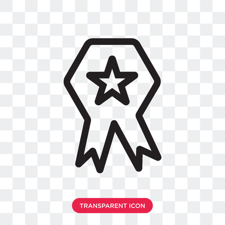 Medal vector icon isolated on transparent background, Medal logo concept