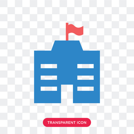 City hall vector icon isolated on transparent background, City hall logo concept Illustration