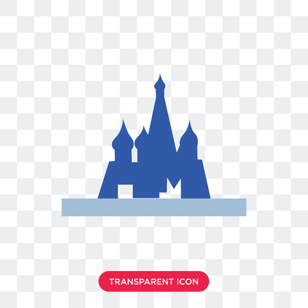 Moscow vector icon isolated on transparent background, Moscow logo concept Ilustracja