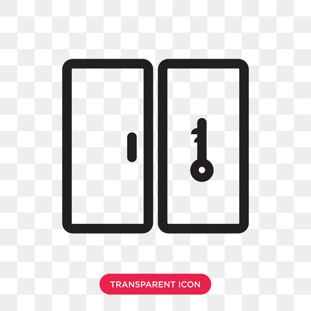 Key vector icon isolated on transparent background, Key logo concept