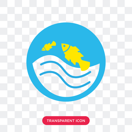 Pond vector icon isolated on transparent background, Pond logo concept