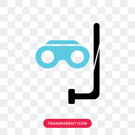Snorkel vector icon isolated on transparent background, Snorkel logo concept