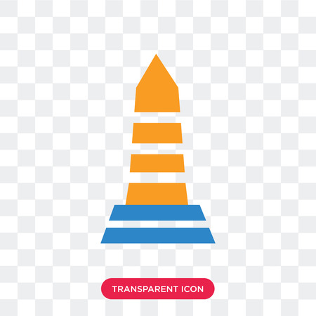 Obelisk vector icon isolated on transparent background, Obelisk logo concept