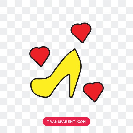 High heels vector icon isolated on transparent background, High heels logo concept