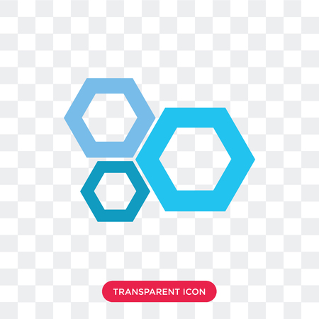 Honeycomb vector icon isolated on transparent background, Honeycomb logo concept