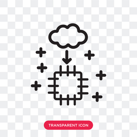 Artificial intelligence vector icon isolated on transparent background, Artificial intelligence logo concept