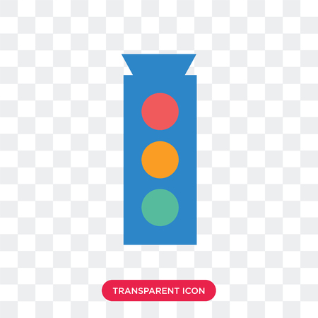 Traffic light vector icon isolated on transparent background, Traffic light logo concept