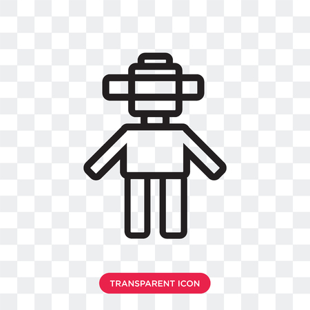 Android vector icon isolated on transparent background, Android logo concept