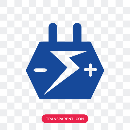 Big Car Battery vector icon isolated on transparent background, Big Car Battery logo concept